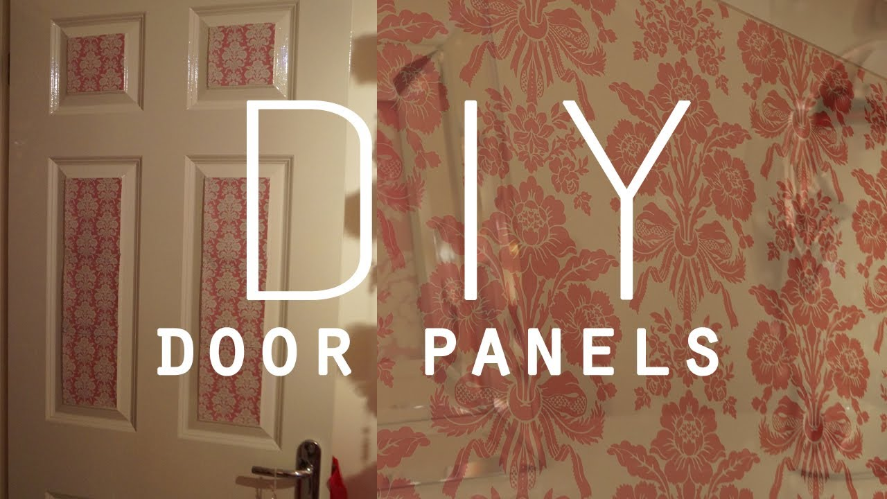 & DIY Room Decorations | Wallpaper door panels - YouTube