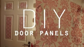 Diy Room Decorations | Wallpaper Door Panels