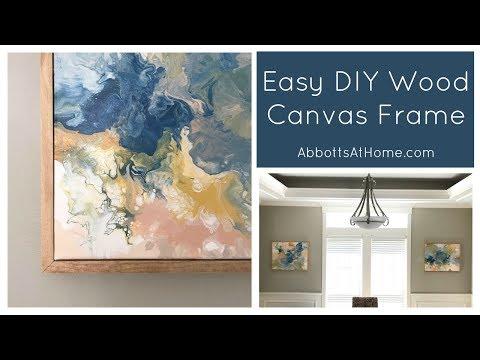 Easy DIY Wood Canvas Frame using 1x2 Pine