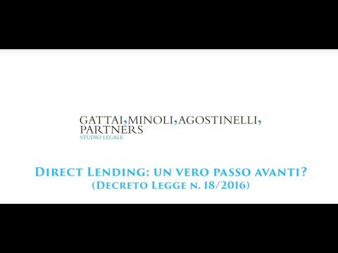 Direct Lending: un vero passo avanti? - Decreto Legge n. 18/2016
