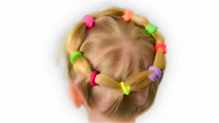 Very lovely and practical hairstyle for little girl. Quick and easy hairstyle #6