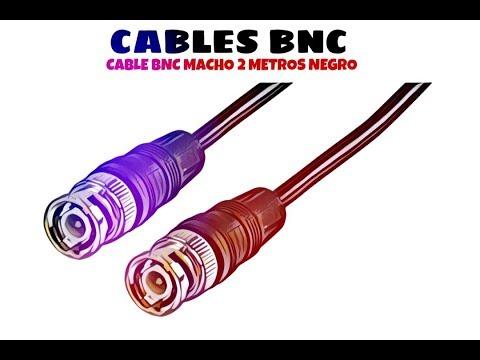 Video de Cable BNC macho RG 59 2 M Negro