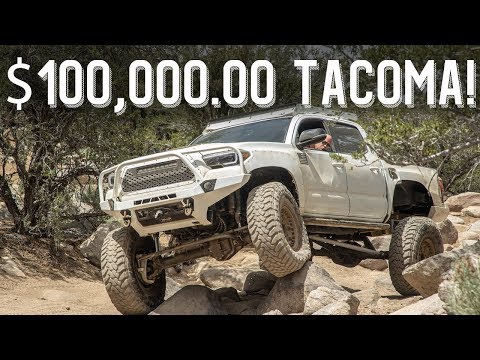 """$100,000.00 Toyota Tacoma! Double Triangulated 4 link 