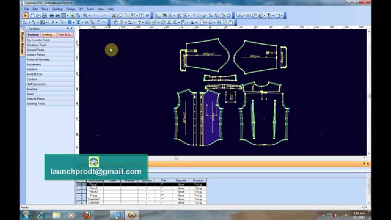 Optitex v11 3D CAD/CAM Pattern Fashion Design