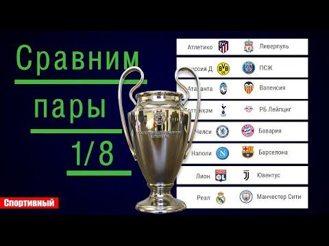 Сравним пары 1/8 Лиги Чемпионов. Расписание плей-офф.