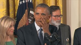 Obama Sheds Tears as He Announces Gun Control Measures