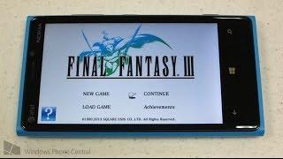 Final Fantasy III: Windows Phone Gameplay