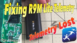 FrSky Taranis R9M Lite Telemetry Fix!  Telemetry Lost at 20 meters?