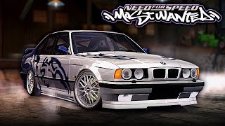 Need for Speed MOST WANTED | 1995 BMW M5 E34 Mod Gameplay [1440p60]