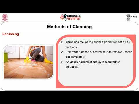 Principles Of Cleaning Procedures, Cleaning Methods