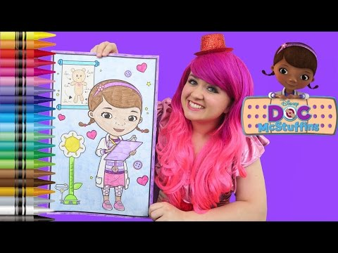 Coloring Doc McStuffins Disney GIANT Coloring Book Page Crayons | COLORING WITH KiMMi THE CLOWN