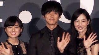 松坂桃李主演の映画『娼年』の完成披露舞台挨拶が12日、都内で行われた...