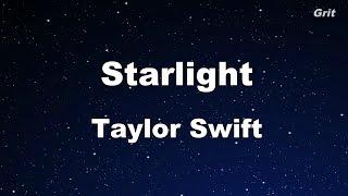 Starlight - Taylor Swift Karaoke【No Guide Melody】