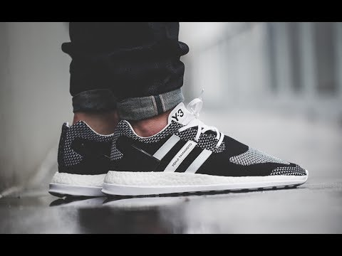 134726cbc God Version Adidas Y3 Pure Boost ZG KNIT Black White Oreo AQ5731 Limited  Real