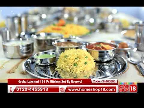 Homeshop18 Com Greha Lakshmi 151 Pc Kitchen Set By Everwel Youtube
