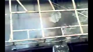 石首市騷亂事件-  永隆大酒店被火燒後情況