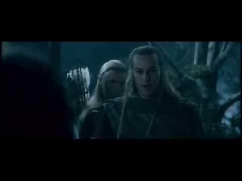Образец эльфийской речи - Синдарин. Разговор Леголаса и Халдира