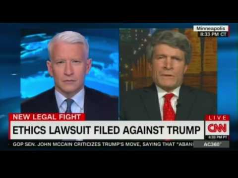 Ethics Lawsuit filed against  Donald #Trump - violation of the Constitution's Emoluments Clause