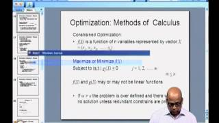 Constrained optimization (1)