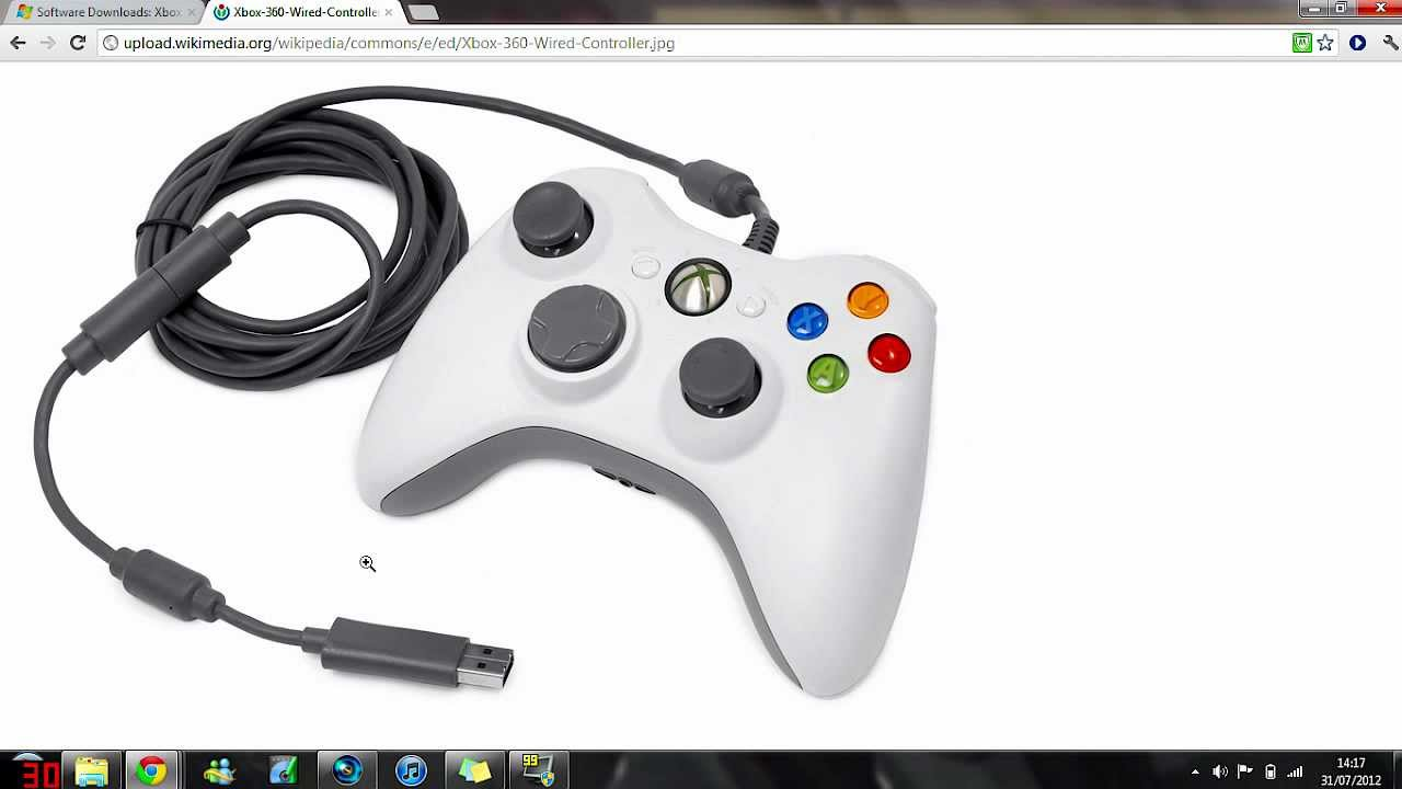 How to connect an Xbox ONE/360 WIRED controller to your PC - YouTube