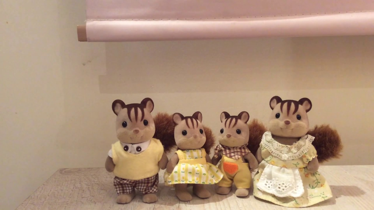 Calico Critters The Squirrel Family Youtube Sylvanian Families Walnut