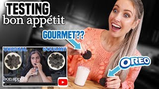 Download I Tried Making BON APPETIT'S GOURMET OREOS | Claire's Gourmet Makes Mp3 and Videos