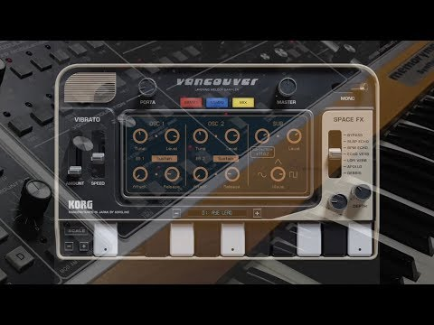 Korg Gadget Vancouver with MemoryMoog And Poly61 synth samples via AudioShare, Apple iOS Jam