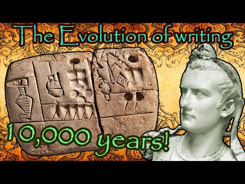 The Evolution Of Writing (8000 B.C to 2017)