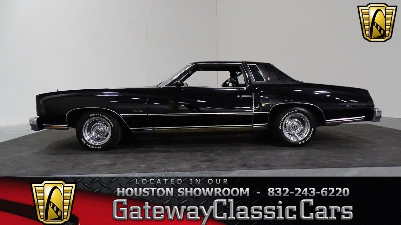 1977 Chevrolet Monte Carlo Gateway Classic Cars #839 Houston Showroom