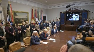 President Trump Participates in a Video Call with the First All-Women Spacewalk Crew