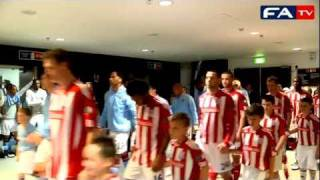 Man City vs Stoke Tunnel Cam | FA Cup Final 2011 14/05/11