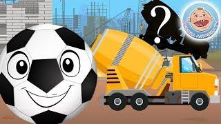Перепутали Строительные машины - Учим Силуэты с Веселым мячиком Футбиком