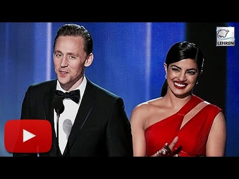 Priyanka Chopra With Tom Hiddlestone On STAGE | Emmy Awards 2016 | LehrenTV
