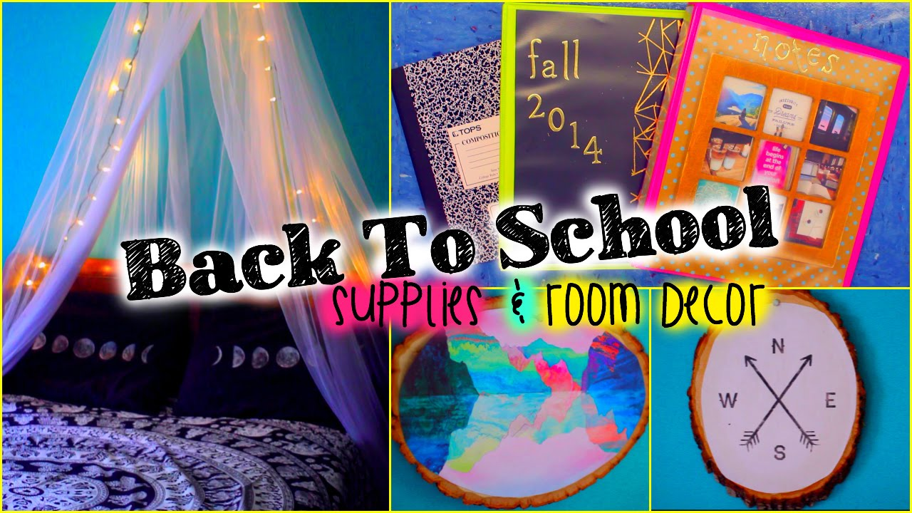 Back to school diy supplies room decor youtube for Room decoration products