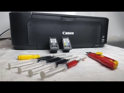 Заправка картриджей PG-440 и CL-441 на Canon MG3540 MG3640 MG2240 MG4240 в домашних условиях