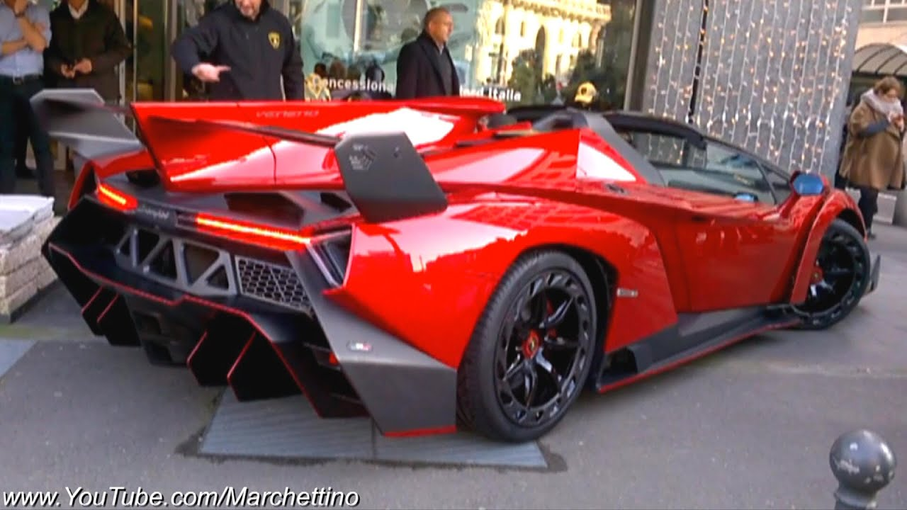 Lamborghini Veneno Roadster 3 3m Hypercar On The Road Youtube