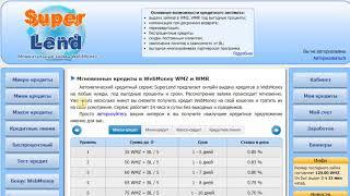SuperLend - Получить мгновенный онлайн кредит до 6000WMZ без справок и поручителей(, 2018-05-26T11:30:09.000Z)