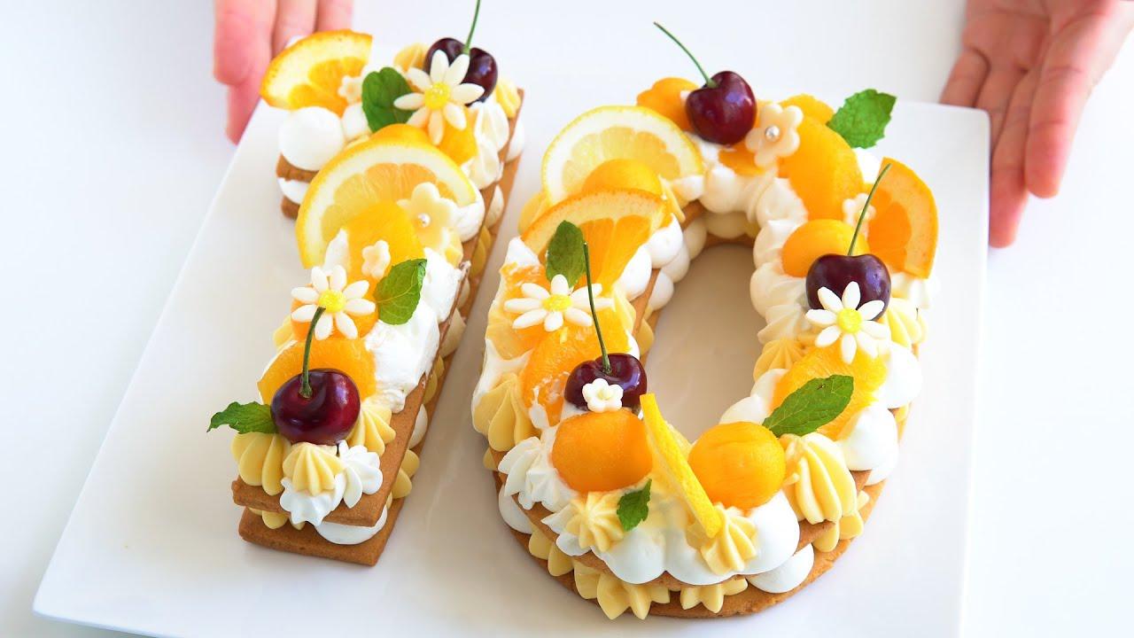ナンバーケーキの作り方 | ASMR スイーツ お菓子作り ケーキ