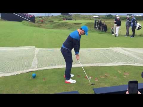 Rory Mcilroy slow motion on Troon 8th postage stamp 2016