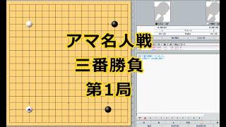 囲碁【北芝礼さん対大関稔アマ名人】【アマ名人戦第1局】