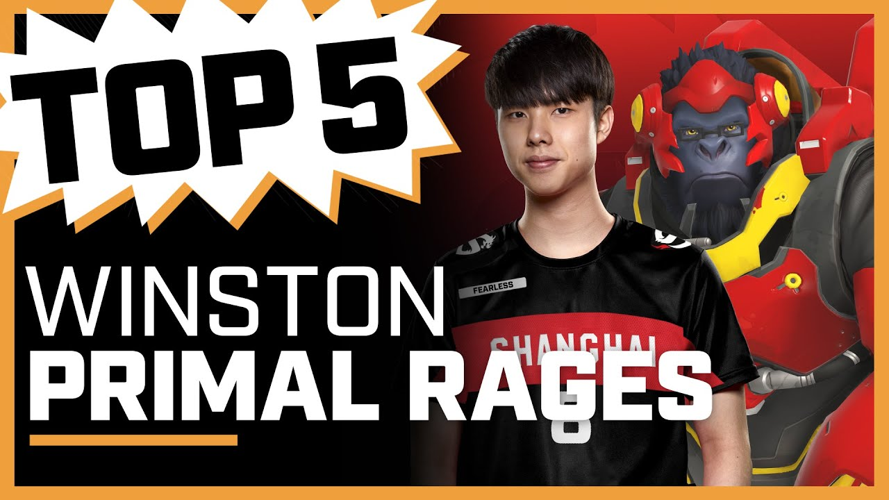 Fearless RAGES with Incredible 4k! | Top 5 Winston Primal Rages