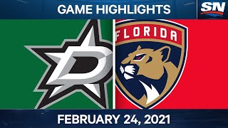 NHL Game Highlights | Stars vs. Panthers - Feb. 24, 2021