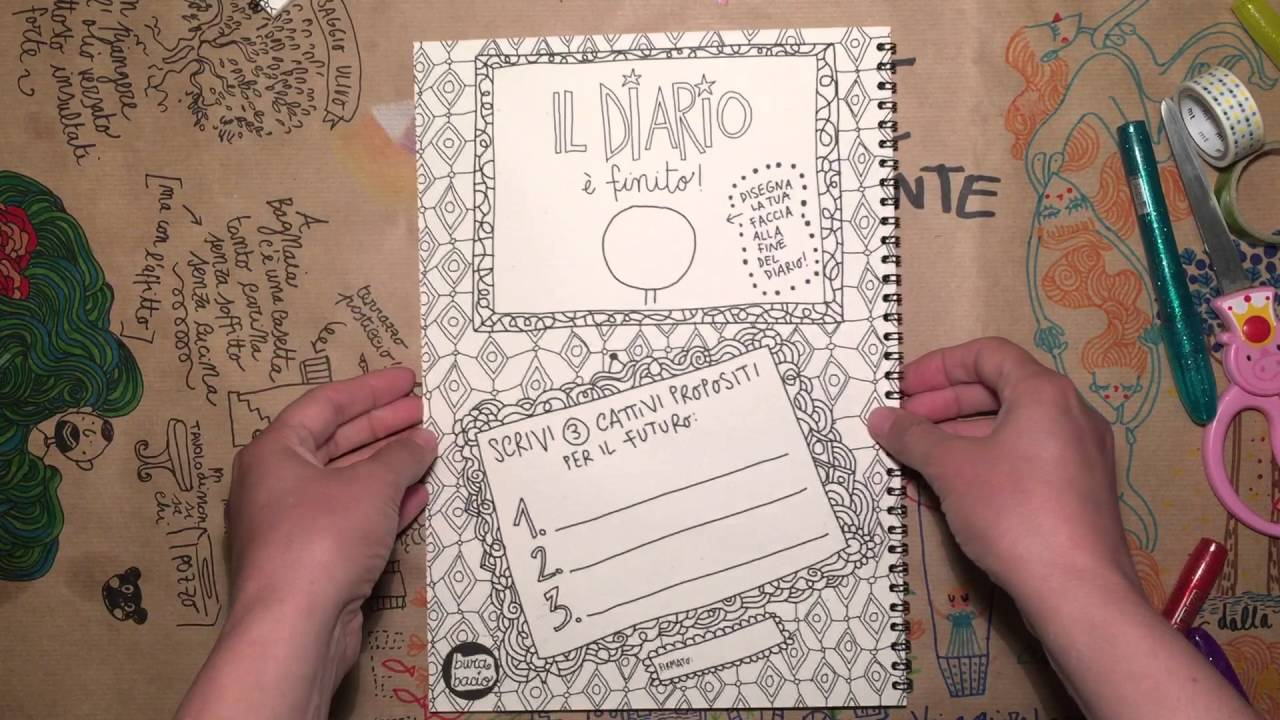 Come Decorare Un Diario Idea D 39 Immagine Di Decorazione