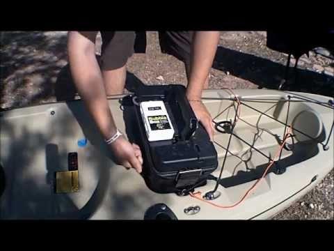 Reel yakin homemade portable kayak livewell youtube for Portable fish livewell