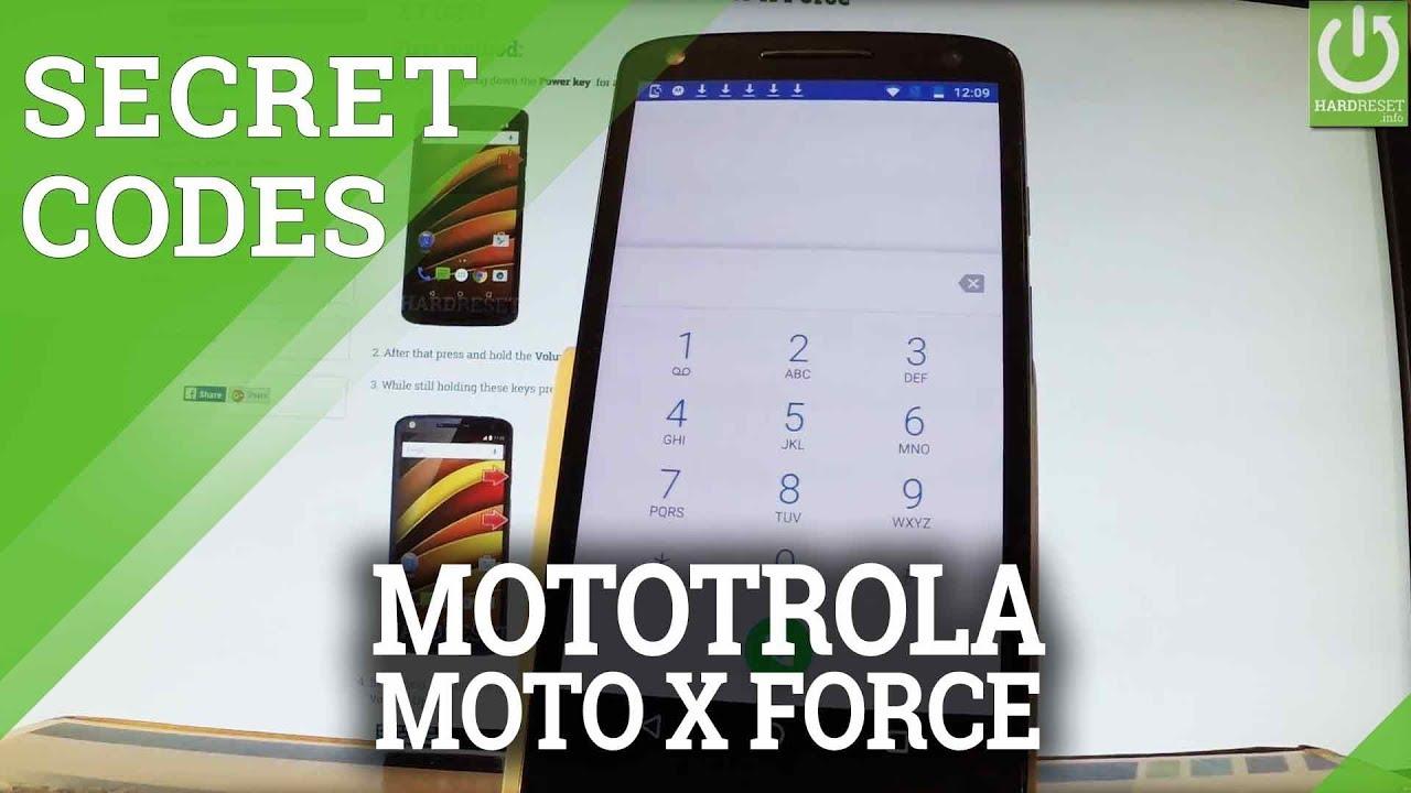 Secret Codes in MOTOROLA Moto X Force - Advanced Settings / Tircks