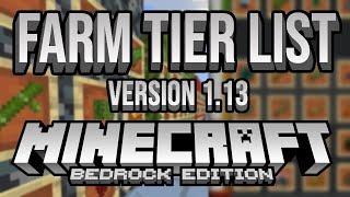 All Minecraft Bedrock Farms In-Depth Tier List (1.13.1)