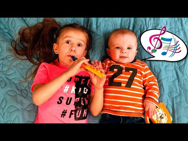 Kids Play with MUSICAL INSTRUMENTS  with Joy Joy  Lika