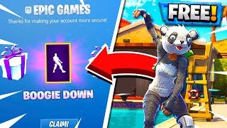 FREE BOOGIE DOWN DANCE EMOTE! How to Unlock Boogie Down Dance!