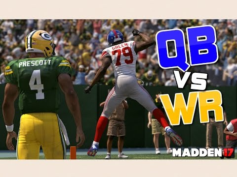 Team of QUARTERBACKS vs Team of WIDE RECEIVERS!! Madden 17 Challenge