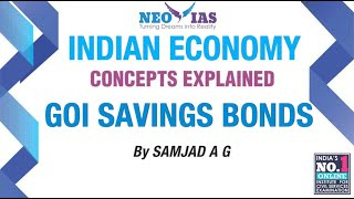 GOI SAVINGS BONDS | BITS ECONOMY | MONEY AND BANKING | ECONOMY GURU | NEO IAS